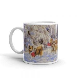 Shelties in the Snow Mug