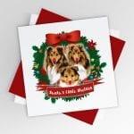 Sheltie Single Christmas Card – Santa's Little Shelties