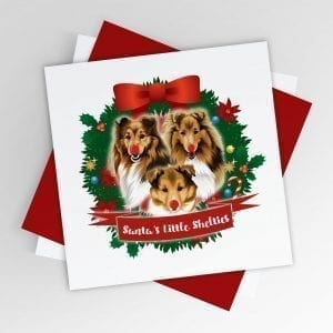 Santa's Little Shelties Christmas Card